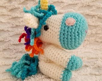 Little Unicorn Crocheted Toy, Amigurumi