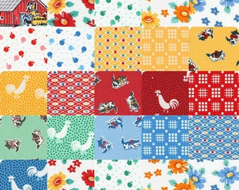 "Morningside Farm Robert Kaufman Charm Pack, 84 2.5"" precut fabric quilt squares"