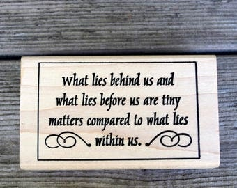 Paper Parachute Wood Mounted Rubber Stamp What Lies Behind Us