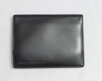 Vintage Coach Black Leather Organizer Wallet, Coach Black Leather Organizer Clutch, Coach Black Leather Organizer Pouch