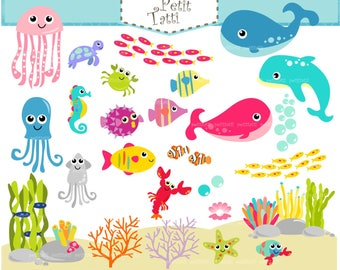 under the sea clipart pdf