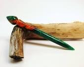 Cantaloupe Acrylic Turned Hair Stick, Hair Accessories, Hair Jewerly, Hair Toy, Hair Pin, Shorter Hair Stick No 221