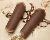 Custom Order XS Medium Hard brown leather cuffs