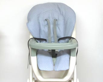 high chair cushion, Graco child seat protector, kids and baby feeding chair, baby chair pad replacement child care, gray target dots on gray