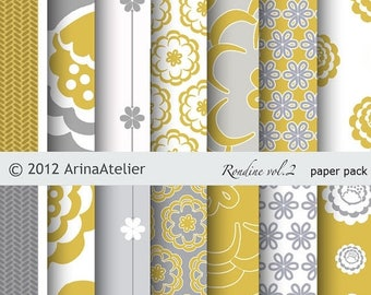 SALE 30%OFF - Rondine vol.2 -  Modern DigitalPaper -  Patterned Digital Paper Pack