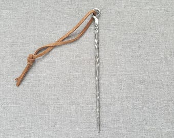 Hand Forged Metal Icicle Ornament - Iron Ornament Christimas Winter Steel Hanging Ornament