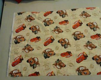 Cars Mater Lightening Mcqueen fabric 249651