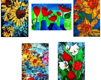 Greeting cards - Set B - beautful high quality fine art cards - all from original art