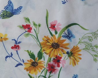 vintage butterfly pillowcase set floral botanical shabby bed linens standard pillowcases