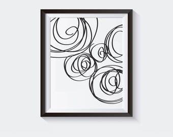Abstract b&w Office Art 8x10 Printable