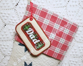 Stocking Name Tag | Personalized Frame Name Tags Exclusively for ChristmasIsLove Stockings