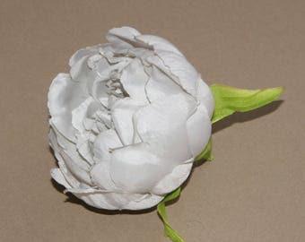 Light Gray Silk Peony - Artificial Flower, Silk Flower Head