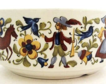 Villeroy & Boch TROUBADOUR Flat Cream Handled Soup Cup Bowl and Ashtray CHOICE Septfontaines, Luxembourg Blue Backstamps