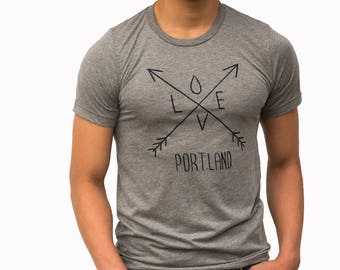 Arrows| Soft Lightweight T Shirt|Love| Portland| Gift for him and her| Unisex| Travel tees| Portland OR t shirt| Hometown| Crew and V-Neck.