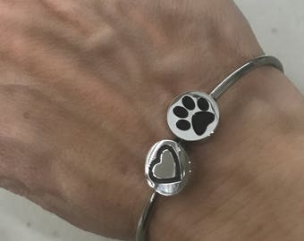 Heart and Paw Cuff