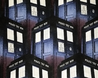 Police Public Call Box Fabric--FQ-- 40-70% off Patterns n Books SALE
