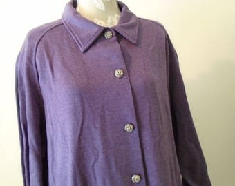 Designer Button Down Size 20 Vintage Dress  Brownstone Woman  Purple