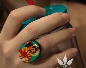 Lord Baby Krishna and Balaram Ring