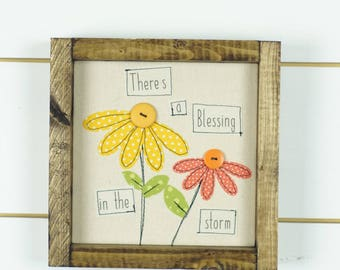 Floral wall art, typography quote, girls room, positive inspiration, typography print, framed art, wall hanging, wood signs, positive quotes