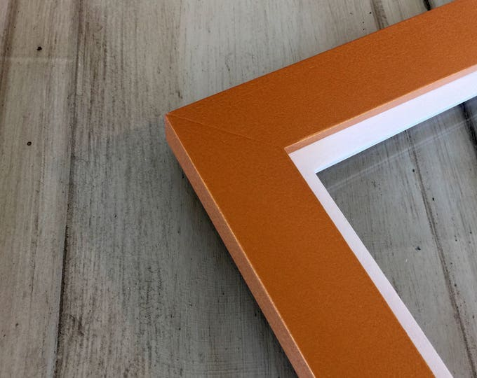 """Solid Colors of Your Choice in White Build Down Style - Choose your Large frame size 9x12, 10x10, 10x12, 11x11, 12x12, 11x13 up to 11x14"""""""
