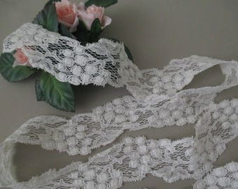 Vintage Antique Cotton Lace  Trim White