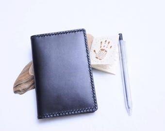 Ho-Ho-Sew Genuine Leather Passport Holder DIY Kit - Black