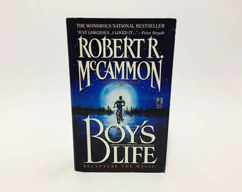 Vintage Pop Culture Book Boy's Life by Robert McCammon 1990s Paperback
