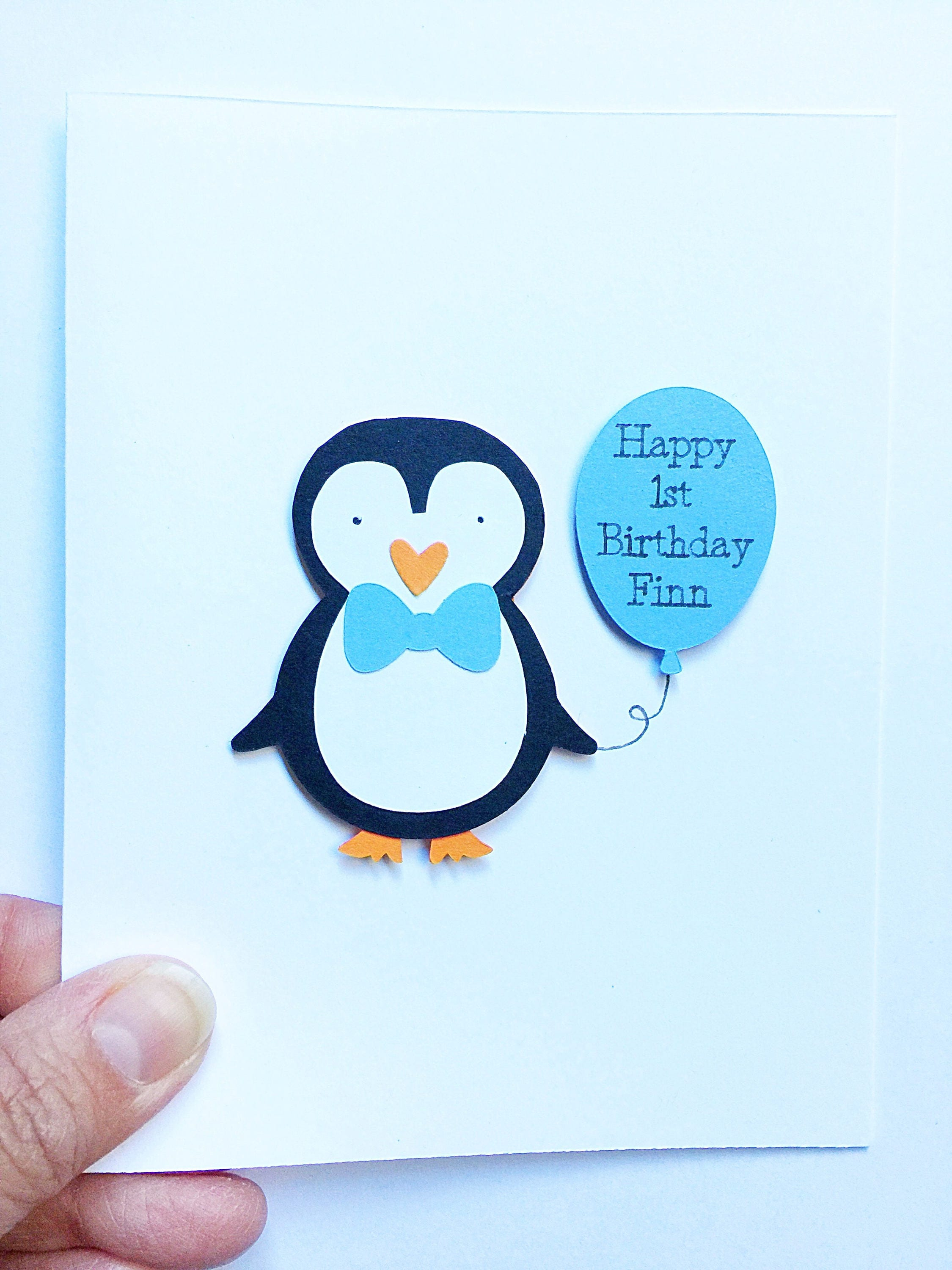 Penguin Birthday Cards. Penguin Party Invitations. Personalized ...