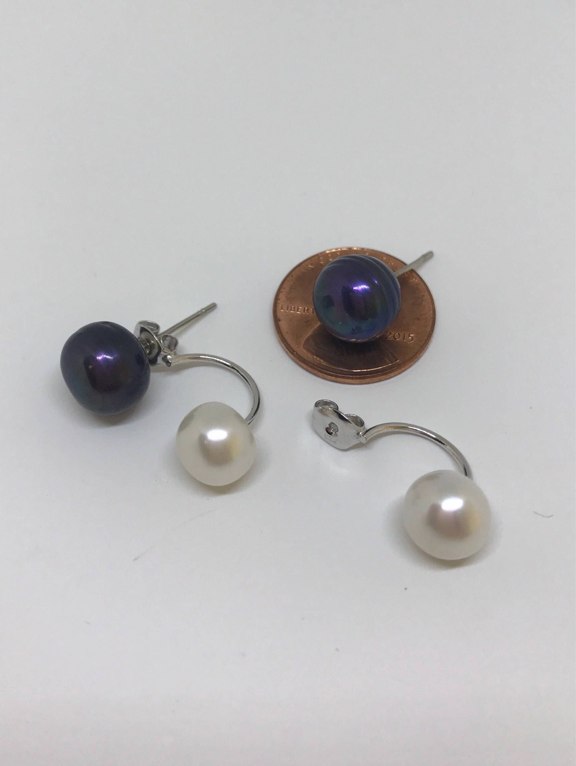 cultured drop amazon pearl silver earrings com interchangeable sterling dp freshwater jewelry honora in