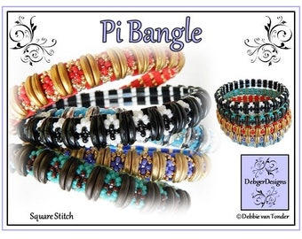 Beading Pattern, Tutorial, Bangle - PI