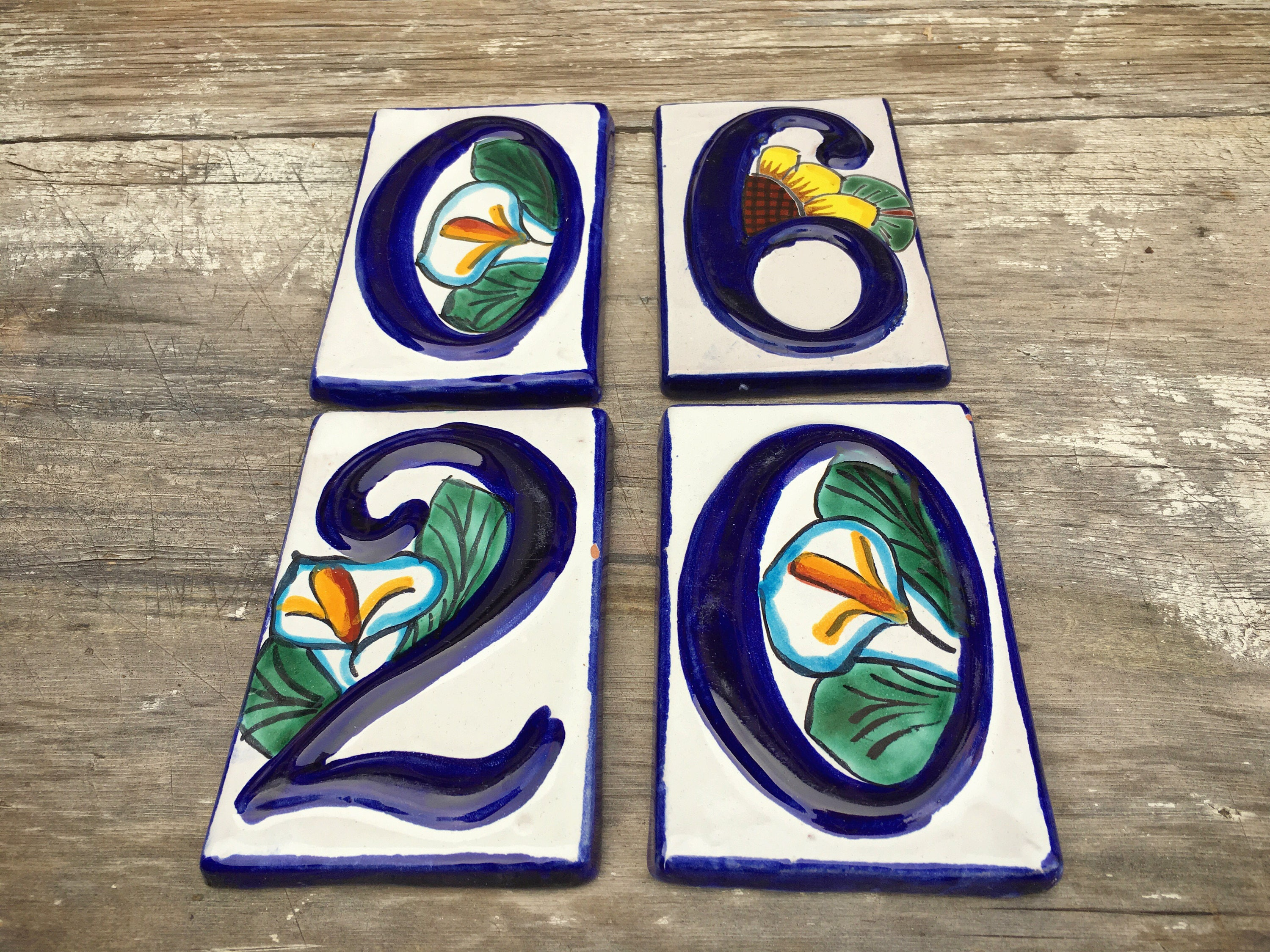 Vintage ceramic 5 14 tall mexican house number ceramic tile blue vintage ceramic 5 14 tall mexican house number ceramic tile blue dailygadgetfo Image collections