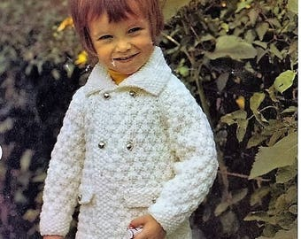 Knitting PATTERN - Boys Chunky Jacket - 22 to 28 inch chest DK PDF Download