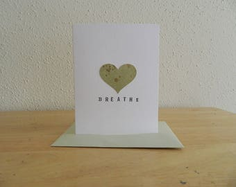 Handmade Breathe Card