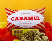Tunnock's Caramel Wafer Printed Cushion / Biscuit Cushion - Cookie Pillow