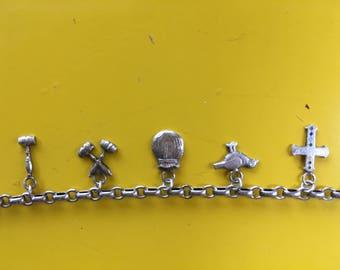 Rainbow Girls, Masonic, Charm Bracelet