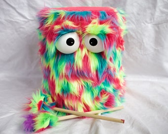 Kids Drum - Shaggy Rainbow Handmade Eco-Friendly Durable Fun Coolest Marching Puppet Drum For Kids 'BOOM BUDDY'