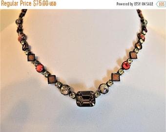ON SALE Vintage Designer Sorrelli Crystal Necklace