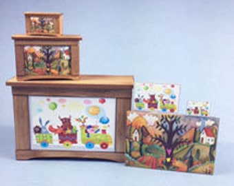 1:12 Scale Blanket Chest or Toy Chest KIT