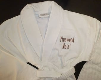 Personalized Robe All Cotton Robe Monogram Robe Embroidered Robe Robe Shawl Collar Unisex Robe, Womens Robe Mens Robe