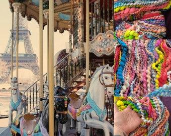 French Carousel - Bulky handspun art yarn