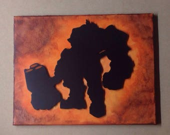 Reinhardt Inspired Melted Crayon Art Painting