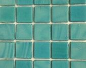 """15mm (3/5"""") Aquamarine Teal Opaque Glass Mosaic Tiles/Mosaics/Mosaic Supplies/Discount Mosaic"""