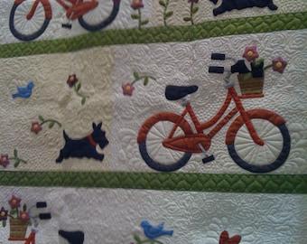 Scotty Dog Quilt Pattern & KIT of fabrics Free Shipping