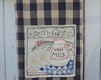 Instant Download Farm Fresh Dish Towel Pattern