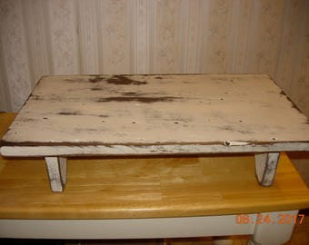 Primitive Barnwood Table/ Candle / Centerpiece Riser