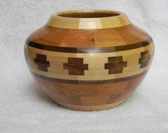 Southwest Inspirations Segemented Wood Bowl #252