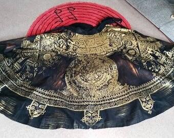 Incredible 1950s Mexican Souvenir Skirt