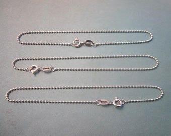 Sterling Bracelet Supply -- Silver Bracelet Component -- Silver Ball Chain Supply -- Simple Bracelet Supply -- Finished Bracelet Supplies