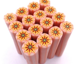 Polymer Clay Cane, Uncured Polymer Clay Cane, Raw Polymer Clay Canes, Flower
