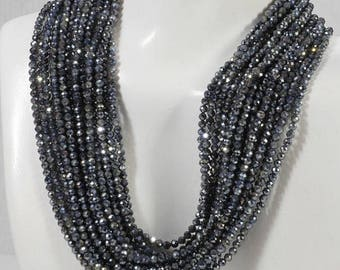 ON SALE Blue Sapphire Beads Faceted Calibrated Mystic Sapphire Deep Blue Opaque Sapphires Mined Precious Gem - 2.8mm - 6-Inch Strand